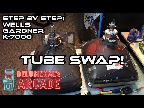 Hyperspin/MAME on 15hz k7000 arcade CRT 240p - смотреть