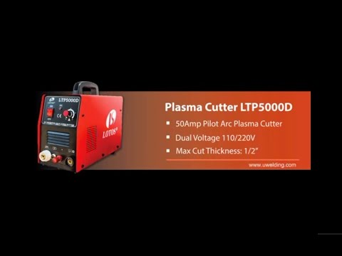 LOTOS LTP5000D 50 Amp Pilot Arc Plasma Cutter Installation Guide and Demonstration LOTOS LTP5000D Pilot Arc Dual Voltage 50Amp Plasma Cutter