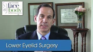 Dr. Clevens | Lower eyelid surgery with invisible scar.