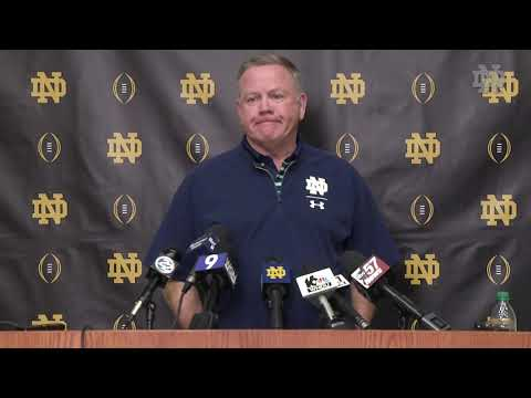 @NDFootball | CFP Media Day Brian Kelly Press Conference (2018)