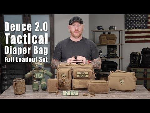 Deuce 2.0 Tactical Diaper Bag Full Loadout Set // Tactical Baby Gear