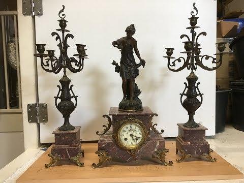 Antik francia Ferrand ingás kandallóóra 15 napos B94 jelzett sorsz. feletütős kandalló óra 1866-1875 - 110000 Ft - (meghosszabbítva: 2899121843) Kép