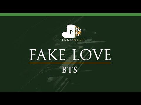 BTS - FAKE LOVE - LOWER Key (Piano Karaoke / Sing Along) - 방탄소년단