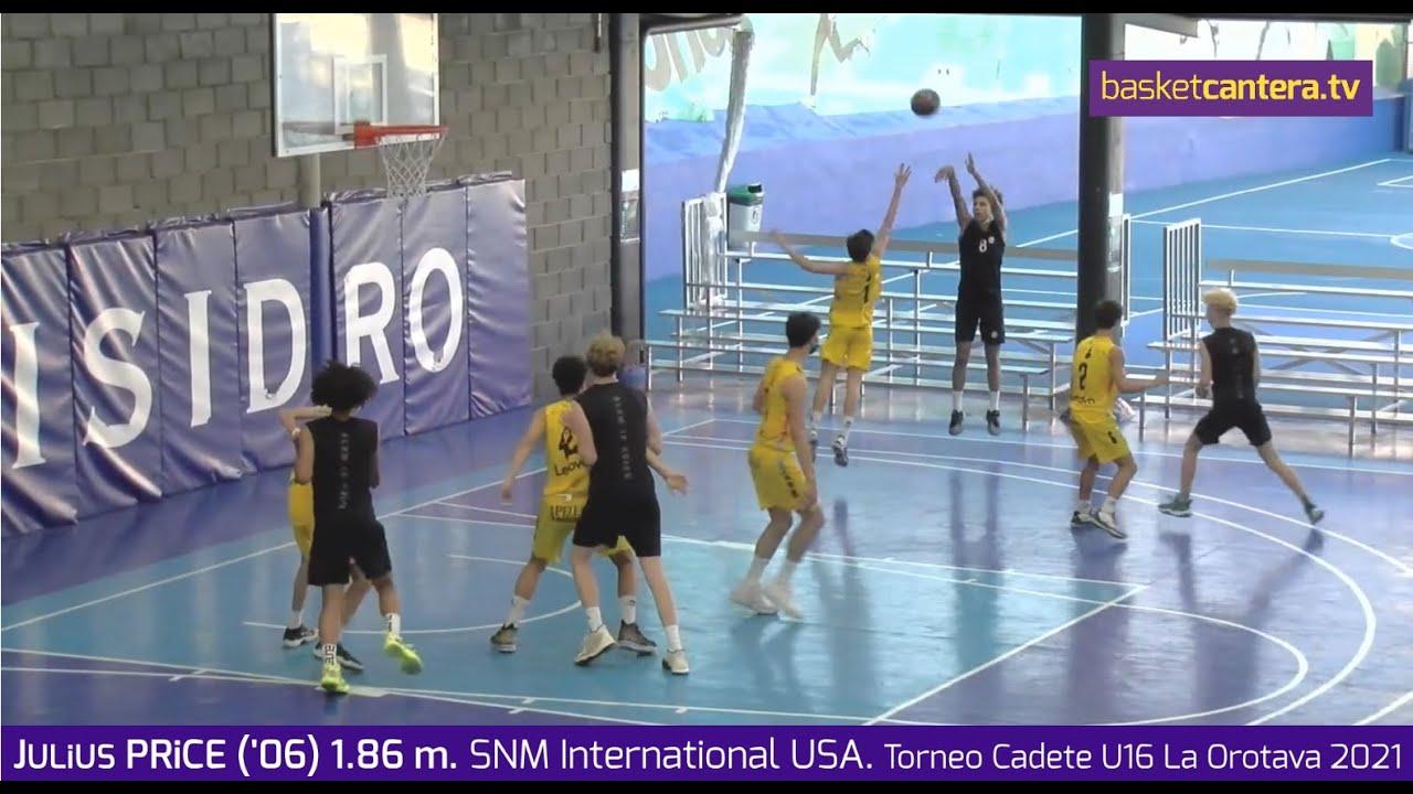 JULiUS PRiCE ('06) 1.86 m.  NSM International USA. Torneo U16 La Orotava 2021 #BasketCantera.TV