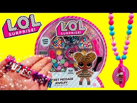 LOL Surprise Secret Message Jewelry Activity Kit Custom DIY