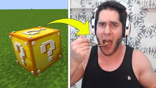 Minecraft LUCKY BLOCKS Decide What I EAT!