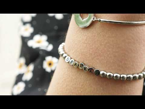 May Sparkle Happiness Pauline zilverkleurige armband