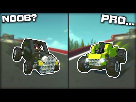 NOOB vs PRO Downhill Gravity Racing! (Scrap Mechanic Gameplay)