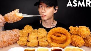 MOST POPULAR FOOD FOR ASMR (KFC, ONION RINGS, MOZZARELLA CORN DOG, CHICKEN NUGGETS) NO TALKING