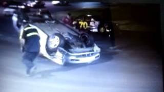 Barberton Raceway Park Purestock Feature Crash 5/11/12