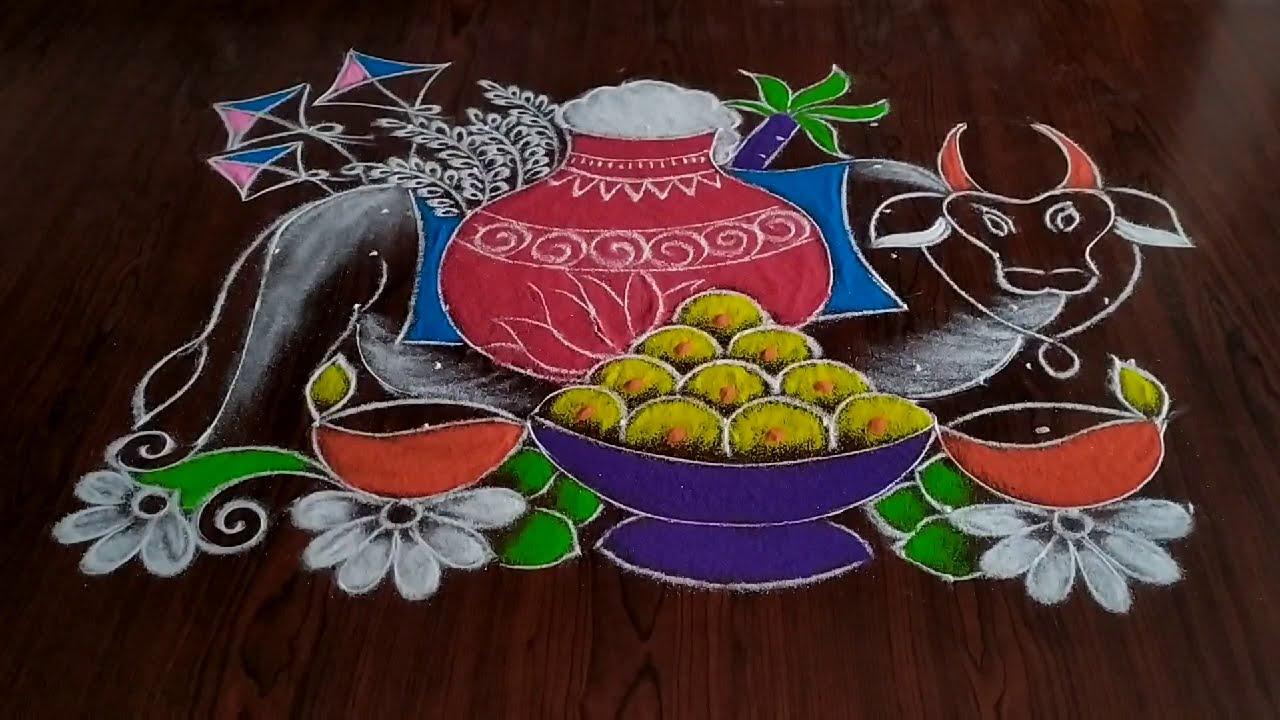 dotted pongal rangoli kolam by sresta