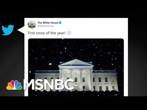 Climate Change-Denying White House Tweets About Snow When It's 70 Degrees | All In | MSNBC