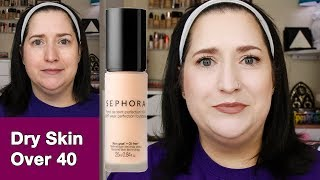 SEPHORA 10 HR PERFECTION FOUNDATION | Dry Skin 10 Hour Wear Test! FOUNDATION FEST | Kholo.pk