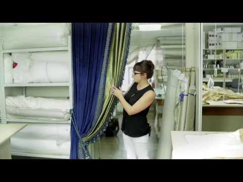 Мастер класс 5. Особенности пошива шторы из необычного сочетания двух тканей - шелка и бархата.