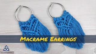 DIY | Most POPULAR Macrame Earrings Design On The MARKET | Macrame Jewelry