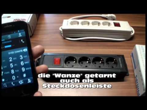 Abhören mit dem Handy Abhörgeräte Spionage Audioüberwachung Gsm Wanze