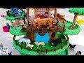 Toy Jungle And Forest Animals In The Treehouse Playset