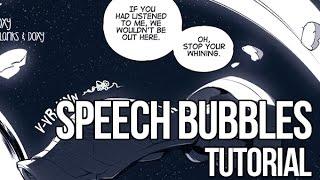 Speech Bubbles Tutorial By Doxy