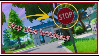 Fortnite stop sign locations | Road Trip