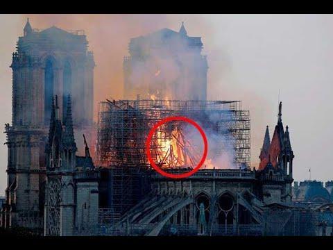 """Cette femme à confirmé avoir vu le """"Christ"""" dans l'incendie de la Cathédrale Notre-Dame de Paris."""