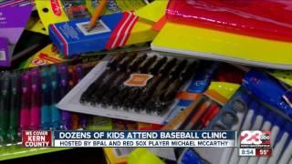 Dozens of kids attend baseball clinic