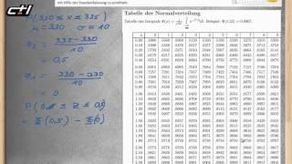 Normalverteilung || Standardnormalverteilung und Standardisieren  ★ Rechenaufgaben mit Tabelle