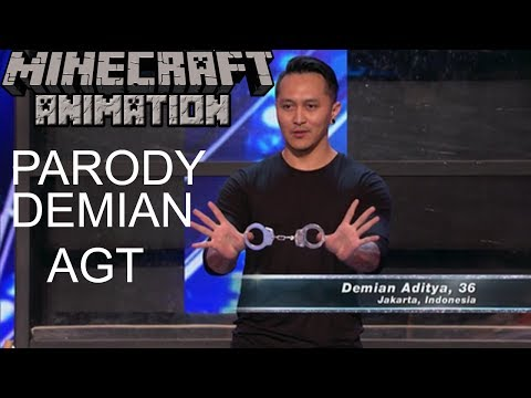 Demian Aditya-Escape Artist Risks His Life American Got Talent 2017 (Minecraft Animation Version) (видео)