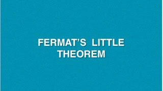Fermat's Little Theorem | Cryptography And Network Security | Tutorials | Cryptography
