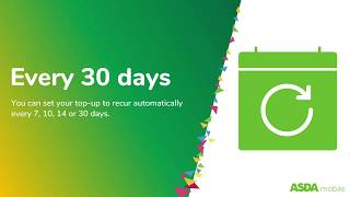 Voiceover for Asda Mobile Top Up Video