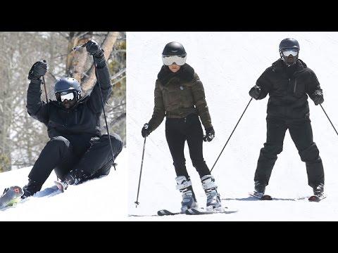 Kourtney Kardashian Teaches Corey Gamble How To Ski, Unsuccessfully