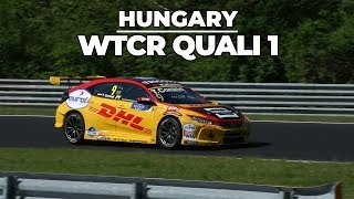 WTCR Hungary quali 1 highlights with Tom Coronel in the Honda Civic