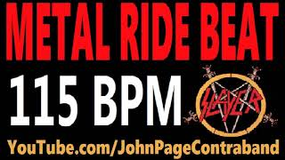 Metal Ride Beat 115 bpm Slayer Style Drums Only Track Loop