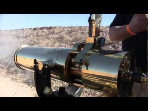Colt Gatling Gun In Action