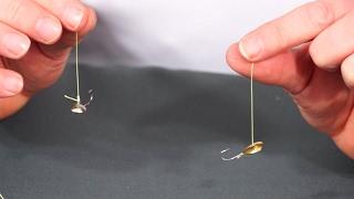 Как привязать мормышку чёртика к леске