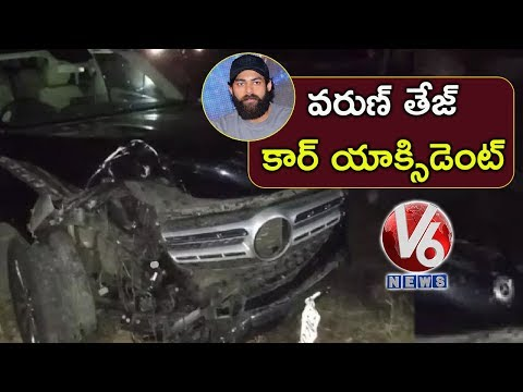 Narrow escape for actor Varun Tej in Met Car Accident