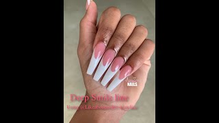 How To Do A French Pink And White Deep Smile Line