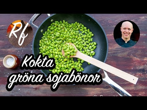 Kokta gröna sojabönor eller edamame. Ett grundrecept på hur du kokar och tillagar frysta gröna sojabönor. De behöver ej tinas utan läggs direkt i kokande vatten eller steks direkt i panna.>