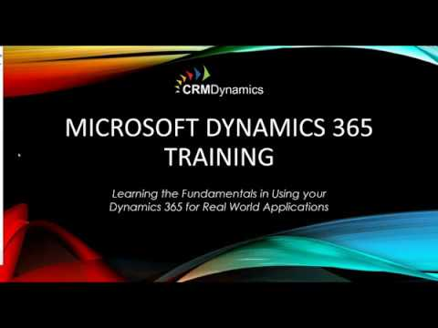 Training Webinar Microsoft Dynamics 365 - Essential Business ...