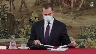 Su Majestad el Rey preside la reunión del Patronato de la Fundación Pro Real Academia Española