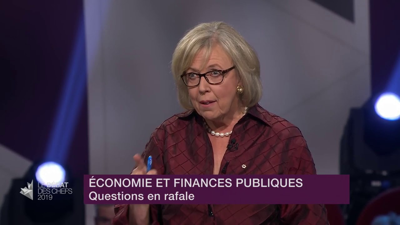 Elizabeth May answers a question about responsibility of managing public money
