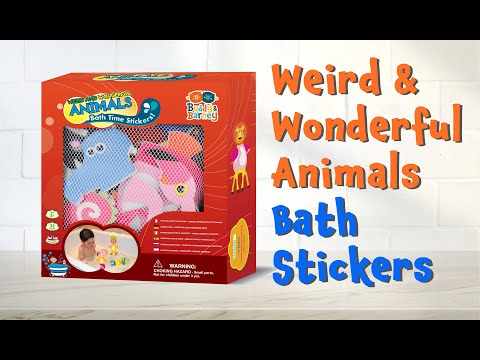 Youtube Video for Weird & Wild Animals Bath Stickers - 32 pieces