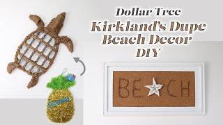 Dollar Tree DIY Kirklands Dupe Beach Decor