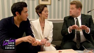 "Henry Golding's Crazy Rich Mom Doesn't Like James (w/ Michelle Yeoh). When James goes to greet ""Crazy Rich Asians"" star Henry Golding before his first appearance on The Late Late Show, he learns that Henry won't come out for the interview until his mother, played by Michelle Yeoh, approves. A task that proves to be much more difficult than James anticipated.  More Late Late Show: Subscribe: http://bit.ly/CordenYouTube Watch Full Episodes: http://bit.ly/1ENyPw4 Facebook: http://on.fb.me/19PIHLC Twitter: http://bit.ly/1Iv0q6k Instagram: http://bit.ly/latelategram  Watch The Late Late Show with James Corden weeknights at 12:35 AM ET/11:35 PM CT. Only on CBS.  Get new episodes of shows you love across devices the next day, stream live TV, and watch full seasons of CBS fan favorites anytime, anywhere with CBS All Access. Try it free! http://bit.ly/1OQA29B  --- Each week night, THE LATE LATE SHOW with JAMES CORDEN throws the ultimate late night after party with a mix of celebrity guests, edgy musical acts, games and sketches. Corden differentiates his show by offering viewers a peek behind-the-scenes into the green room, bringing all of his guests out at once and lending his musical and acting talents to various sketches. Additionally, bandleader Reggie Watts and the house band provide original, improvised music throughout the show. Since Corden took the reigns as host in March 2015, he has quickly become known for generating buzzworthy viral videos, such as Carpool Karaoke."""