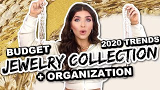MY BUDGET JEWELRY COLLECTION | 2020 Jewelry Trends | Jewelry Organization Ideas | Affordable Jewelry