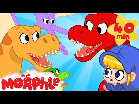 Morphle the dinosaur goes back in time!