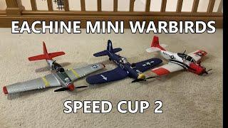 EACHINE MINI WARBIRDS SPEED CUP 2020 - P-51 vs F4U vs T-28