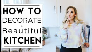 INTERIOR DESIGN | 5 EASY Kitchen Decorating Ideas