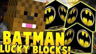 BATMAN VS SPIDERMAN LUCKY BLOCKS - Minecraft SuperHero Mod Challenge