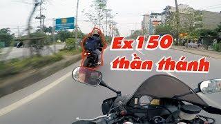 Gặp Ex150 phóng như một vị thần và câu chuyện đổ xăng   Motovlog Cbr600