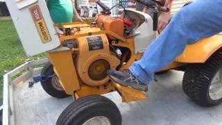 2nd annual mini tractor show - And an old start cold start Sears Custom 10xl